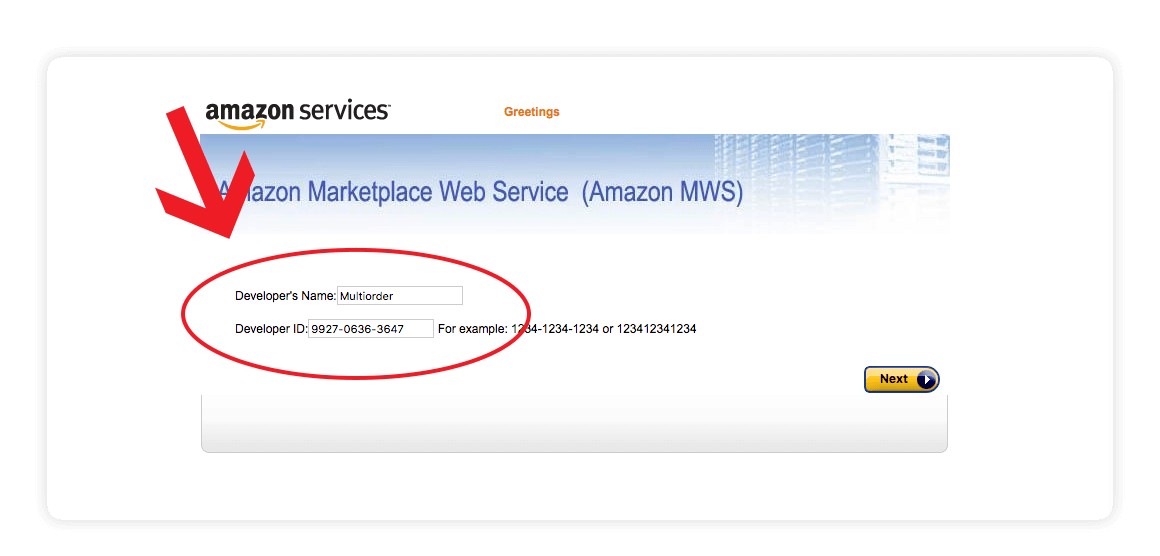 Amazon MWS developers name developers id screen shot - amazon integration guide