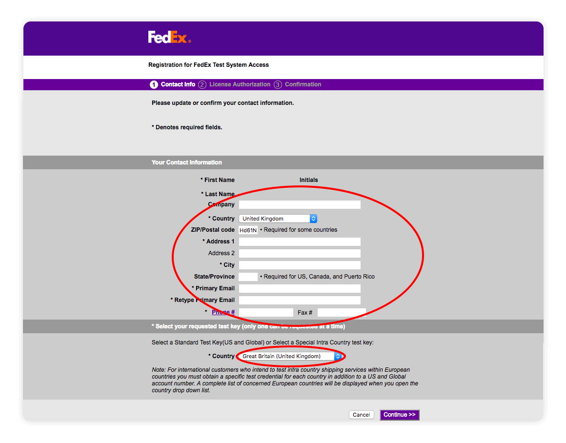 Fedex Web Services Registration for Fedex Test System Access - multiorders integrations guide