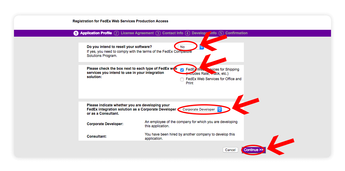 Fedex Web Services Application Profile - multiorders integrations guide