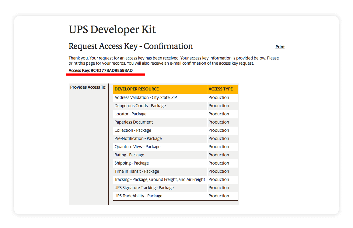 UPS Developer Kit - Multiorders integration guide
