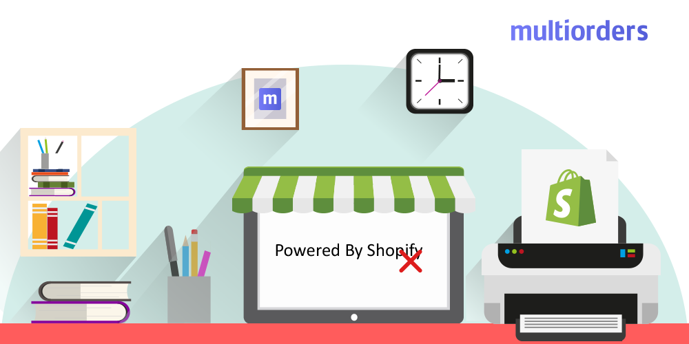 "How To Remove ""Powered by Shopify"" Multiorders"