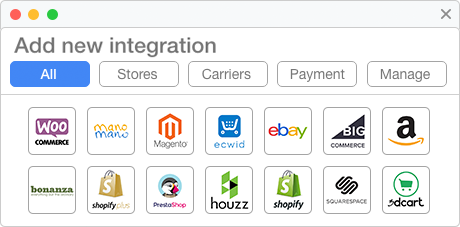 Unlimited ecommerce integrations