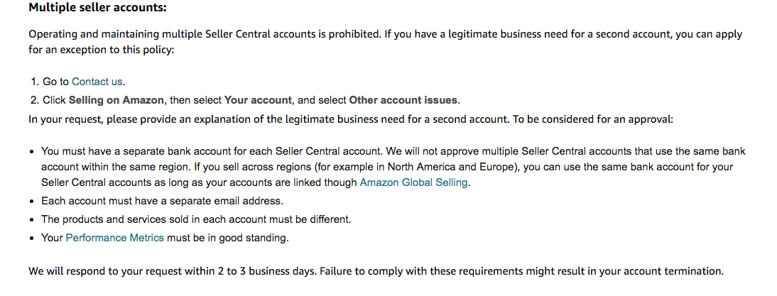 manage multiple Amazon Seller accounts