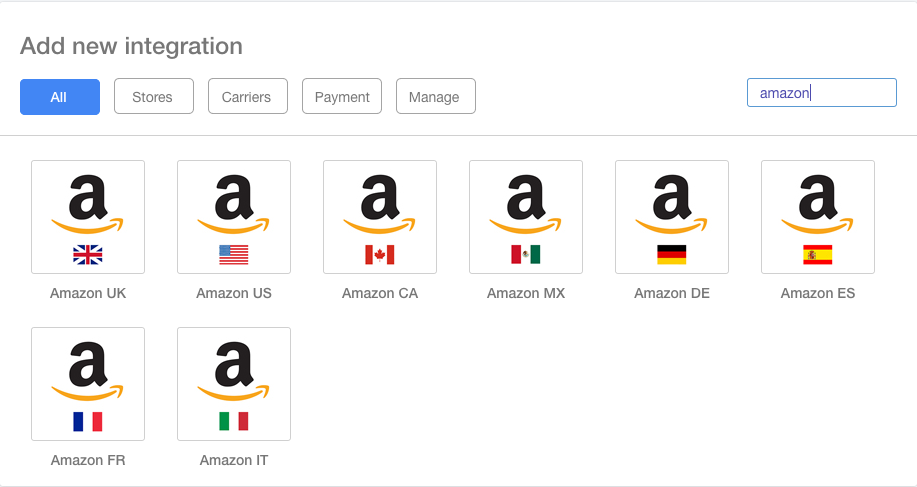 All Amazon Integrations Screenshot Multiorders