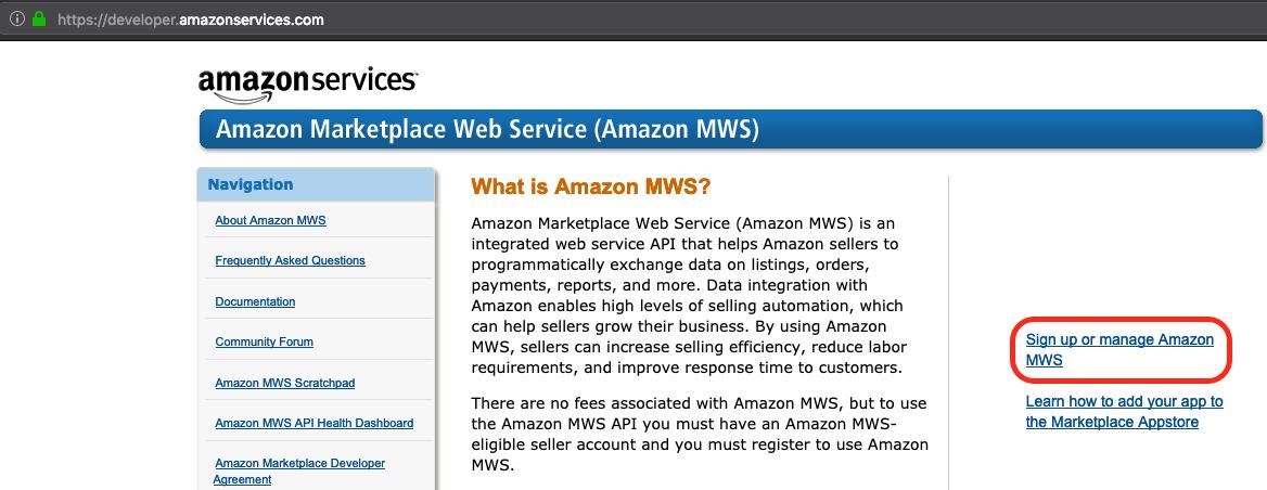 Manage Amazon MWS Screenshot Multiorders