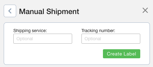 Create eBay Shipping Labels