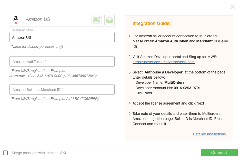 Integrate Amazon US Screenshot Multiorders