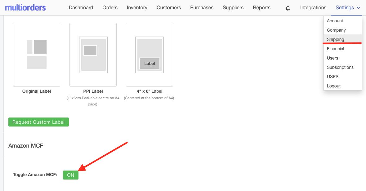 Enable Amazon MCF Screenshot Multiorders