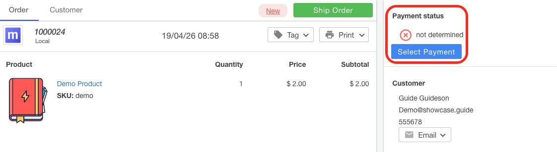 Select Payment Method Screenshot Multiorders