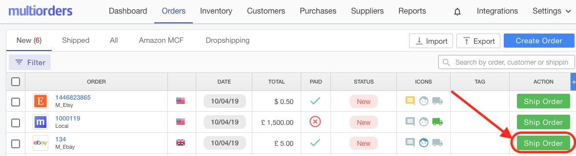 Ship eBay Order Screenshot Multiorders